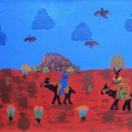 "Artist: Chris Ken Title: ""Country"" Materials: Acrylic On Linen Size: 40cm x 76cm Price: $370 (AUD)  Cat No: S0384"