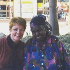 Jennifer Dudley with Artist: Gloria Petyarre