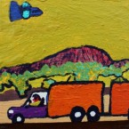 Artist: Billy Kenda (Bindi Artist) Acrylic On Board Size: 20cm x 10cm Price: $220 (AUD) Cat No: S0002