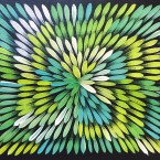 "Artist: Jacinta Numina Title: ""Bush Medicine Leaves""  Size: 30cm x 40cm Price: $190 (AUD)  Cat No: S0485"
