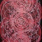 """ARTIST: JANELLE STOCKMAN TITLE: """"Desert Flowers"""" SIZE: 90cm x 31cm PRICE: $990 (Aud) cat no: M0060"""