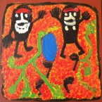 "ARTIST: Dr Pantjiti Mary McLean TITLE: ""Springtime"" 2003 Part of the Fellowship Project MATERIALS: Acrylic on board SIZE:  30cm x 30cm PRICE: $550  (Aud) CAT NO: S0213"