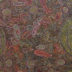 Artist: Rodney Cook Mpetyane Title: 'Country' Size: 112cm x 92cm Price: $990 (AUD)  Cat No: M0129