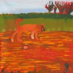 Artist: Wilma Napangardi Poulson  Title: Maliki Jukurrpa (Dog Dreaming) Size: 30cm x 30cm Prestretched Price: $160 (AUD) Cat No: S0530