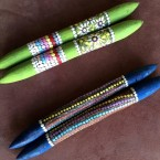 Clap Sticks Materials: Acrylic Paint Price: $45 (AUD) pair Cat No: A0026