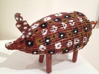 "Artist: Sylvia Campion ""Bush Pig"" Price: $275 (AUD) 54cm x 18cm Cat No: A0001"