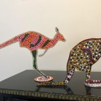 Metal Kangaroos Dot Painted With Acrylic Paints Cat No: A0033 Size: 20cm Tall Price: $90 (AUD) Each
