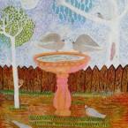 "Artist: Trevor Nickolls (Award Winning Artist)  Title: ""Doves"" Size: 35cm x 51cm Price: $2,200 (AUD)  Cat No: C0009"